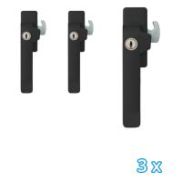 AXA veiligheids raamsluiting links zwart 3329 (3x) - SKG*