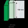 AXA veiligheids raamsluiting rechts zwart 3329 (1x) - SKG*