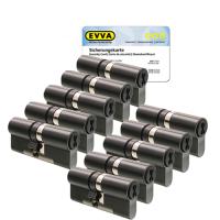 EVVA 4KS cilinder gepatineerd zwart met kerntrekbeveiliging (10x) - SKG***