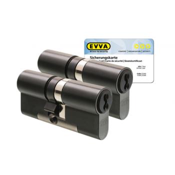 EVVA 4KS cilinder gepatineerd zwart met kerntrekbeveiliging (2x) - SKG***