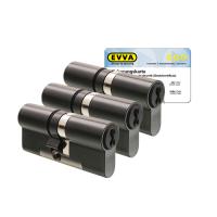 EVVA 4KS cilinder gepatineerd zwart met kerntrekbeveiliging (3x) - SKG***