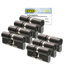 EVVA 4KS cilinder gepatineerd zwart met kerntrekbeveiliging (7x) - SKG***