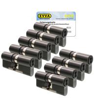 EVVA 4KS cilinder gepatineerd zwart met kerntrekbeveiliging (9x) - SKG***