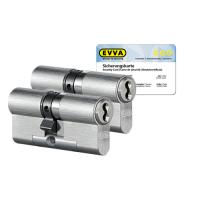 EVVA 4KS cilinder nikkel (standaard) met kerntrekbeveiliging (2x) - SKG***