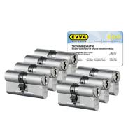 EVVA 4KS cilinder nikkel (standaard) met kerntrekbeveiliging (7x) - SKG***