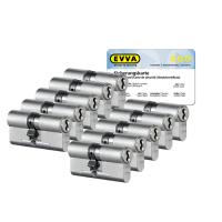EVVA 4KS cilinder nikkel (standaard) met kerntrekbeveiliging (10x) - SKG***