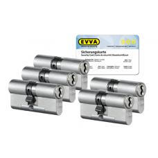 EVVA 4KS cilinder nikkel (standaard) met kerntrekbeveiliging (5x) - SKG***