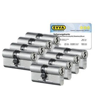EVVA 4KS cilinder nikkel (standaard) met kerntrekbeveiliging (8x) - SKG***