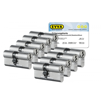 EVVA 4KS cilinder nikkel (standaard) met kerntrekbeveiliging (9x) - SKG***