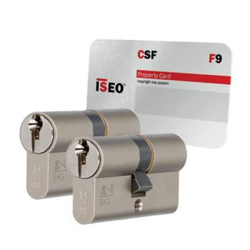 Iseo F9 cilinder met kerntrekbeveiliging (2x) - SKG***