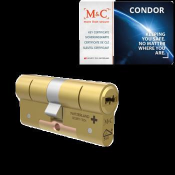 M&C Condor messing cilinder met kerntrekbeveiliging (1x) - SKG***