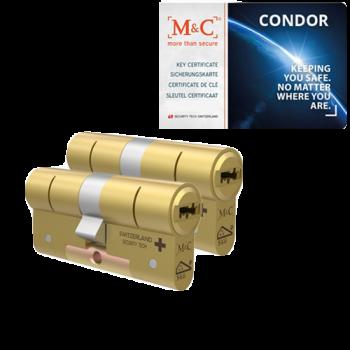 M&C Condor messing cilinder met kerntrekbeveiliging (2x) - SKG***