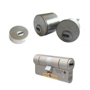 Ombouwset met RVS kerntrekrozet + M&C Condor cilinder (1x) - SKG***