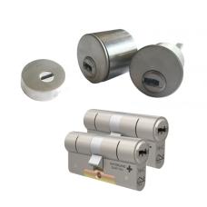 Ombouwset met RVS kerntrekrozet + M&C Condor cilinder (2x) - SKG***