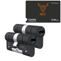 M&C Condor cilinder zwart met kerntrekbeveiliging (2x) - SKG***