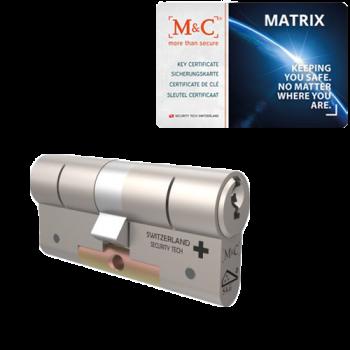 M&C Matrix cilinder met kerntrekbeveiliging (1x) - SKG***