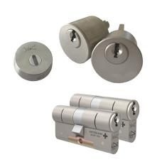 Ombouwset met RVS kerntrekrozet + M&C Matrix cilinder (2x) - SKG***