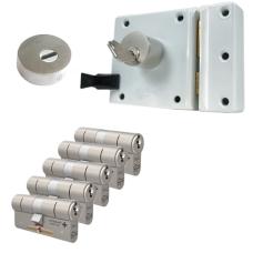 Oplegslot met RVS kerntrekrozet + M&C Matrix cilinder (5x) - SKG***