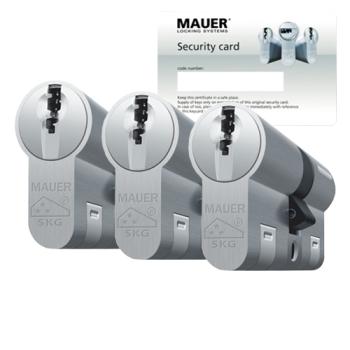 Mauer DT1+ cilinder met kerntrekbeveiliging (3x) - SKG***
