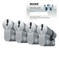 Mauer DT1+ cilinder met kerntrekbeveiliging (4x) - SKG***
