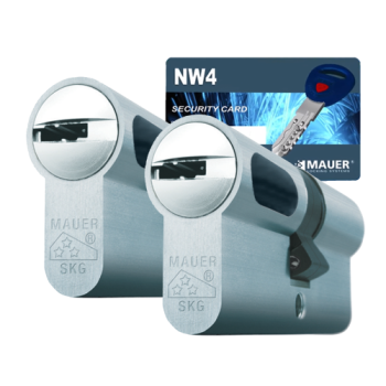 Mauer New Wave 4 cilinder met kerntrekbeveiliging (2x) - SKG***
