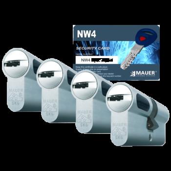 Mauer New Wave 4 cilinder met kerntrekbeveiliging (4x) - SKG***