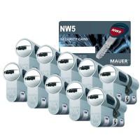 Mauer New Wave 5 cilinder met kerntrekbeveiliging (10x) - SKG***