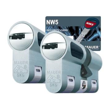 Mauer New Wave 5 cilinder met kerntrekbeveiliging (2x) - SKG***