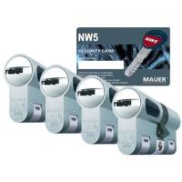 Mauer New Wave 5 cilinder met kerntrekbeveiliging (4x) - SKG***