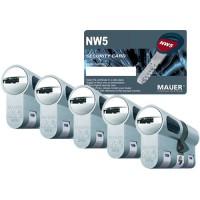 Mauer New Wave 5 cilinder met kerntrekbeveiliging (5x) - SKG***