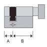 Mauer halve knopcilinder (1x)