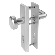 Nemef veiligheidsbeslag kortschild knop/kruk (rechthoekig) - SKG***