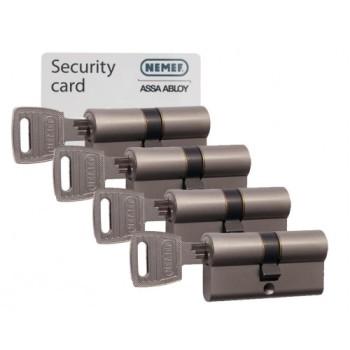 Nemef NF3 cilinder met kerntrekbeveiliging (4x) - SKG***
