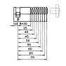 DOM halve knopcilinder (1x)