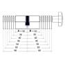 Nemef NF4 cilinder met kerntrekbeveiliging (4x) - SKG***