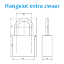 M&C hangslot met Color cilinder - SKG***
