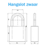 M&C hangslot met Color+ cilinder - SKG***