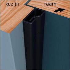 Secustrip Plus voor ramen binnendraaiend 150 cm zwartgrijs