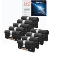 M&C Matrix cilinder zwart met kerntrekbeveiliging (9x) - SKG***